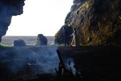 Laisser la caverne Image stock