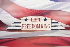 Laissez la boucle de liberté Photos stock