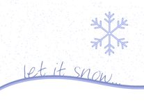 laissez la neige Photo stock