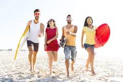 Laissez le ` s aller à la plage Images libres de droits