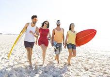 Laissez le ` s aller à la plage Photos stock