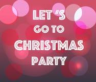 Laissez le ` s aller à la fête de Noël Photographie stock libre de droits