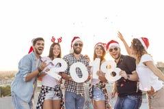 Laissez le ` s célébrer l'arrivée de nouvelle année Photos libres de droits