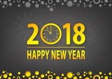Laissez le ` s célébrer la bonne année 2018 Photo stock