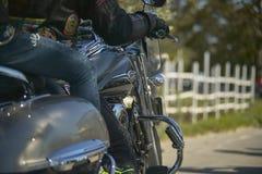 Laissez le ` s partir pour un voyage de moto Photo libre de droits