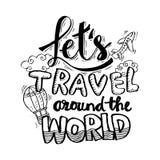 Laissez le ` s voyager autour du monde illustration libre de droits