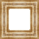 Laissez le vieux cadre en bois à un arrière-plan blanc avec l'espace pour le texte Photos stock