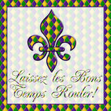 Laissez les Bons Temps Rouler! Mardi Gras Stock Image