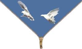 Laissez les colombes à l'extérieur Image stock