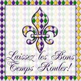 Laissez lesBons arbetar tillfälligt Rouler! Mardi Gras Royaltyfria Foton
