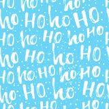 Laissez lui neiger - carte d'hiver avec la neige et la main blanches Image libre de droits