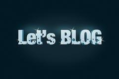 Laissez-nous art créateur de blog Photographie stock libre de droits