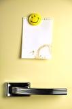 Laissez un message sur le réfrigérateur image libre de droits