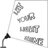 Laissez votre lampe légère d'éclat Photographie stock libre de droits
