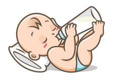 Lait boisson de bébé d'illustration de vecteur de bouteille illustration libre de droits