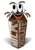 Lait chocolaté de carton et de dessin animé Image stock