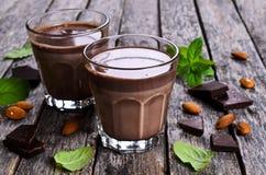 Lait chocolaté Photographie stock libre de droits