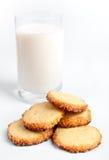 lait de biscuits Photographie stock libre de droits