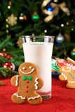 lait de biscuits de Noël Photos stock