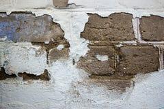 Lait de chaux bleu Vieux mur Images stock