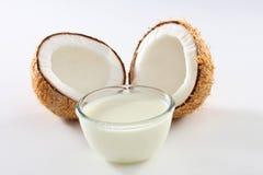 Lait de noix de coco photo stock