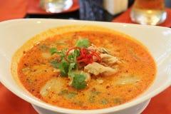 Lait de noix de coco de Tom Yam Thailand Photo stock