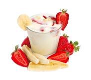 Lait de poule de fraise Photo stock