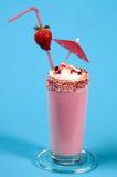 Lait de poule de fraise Photographie stock libre de droits