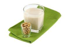 Lait de soja frais (lait, le soja de soja) Photographie stock
