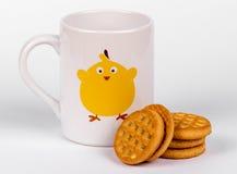 Lait et biscuits Photographie stock