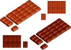 Lait et chocolat de noir Image libre de droits