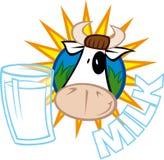 Lait et vache Photo libre de droits