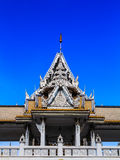 Laithai roof of temple with sky  Stock Photos