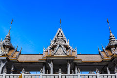 Laithai roof of temple with sky  Stock Photography