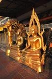 Laiton de groupe de Bouddha divers Photos libres de droits