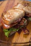 Laitue de lard et sandwich à tomate Photographie stock