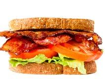Laitue de lard et sandwich juteux à tomate image libre de droits