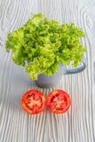 Laitue et tomate Photos libres de droits