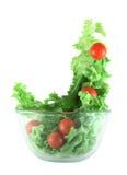 Laitue légère et tomates pilotant le concept de salade photos stock