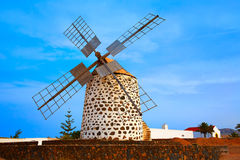 Lajares windmill Fuerteventura at Canary Islands Stock Photography