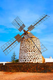 Lajares windmill Fuerteventura at Canary Islands Stock Images