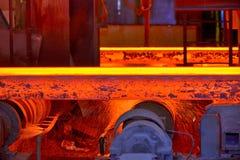 Laje de aço quente caloroso imagens de stock royalty free