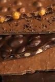 Laje do chocolate fotografia de stock