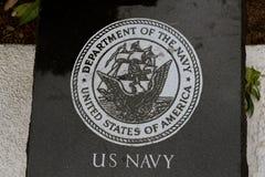 Laje do granito do preto da marinha dos E.U. Fotos de Stock