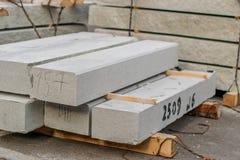 Lajes de cimento no canteiro de obras Fotos de Stock