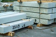 Lajes de cimento no canteiro de obras Foto de Stock Royalty Free