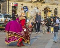 Lajkonik i krakow Fotografering för Bildbyråer
