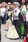 Lajkonik ` San Isidro `, patron Madryt, Maj 15, 2017, Madryt, Hiszpania Zdjęcie Stock