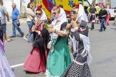 Lajkonik ` San Isidro `, patron Madryt, Maj 15, 2017, Madryt, Hiszpania Zdjęcia Stock