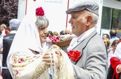 Lajkonik ` San Isidro `, patron Madryt, Maj 15, 2017, Madryt, Hiszpania Fotografia Royalty Free